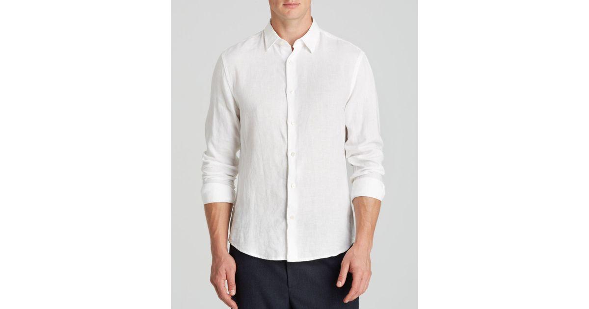 Lyst Vince Yarn Dye Linen Chambray Button Down Shirt
