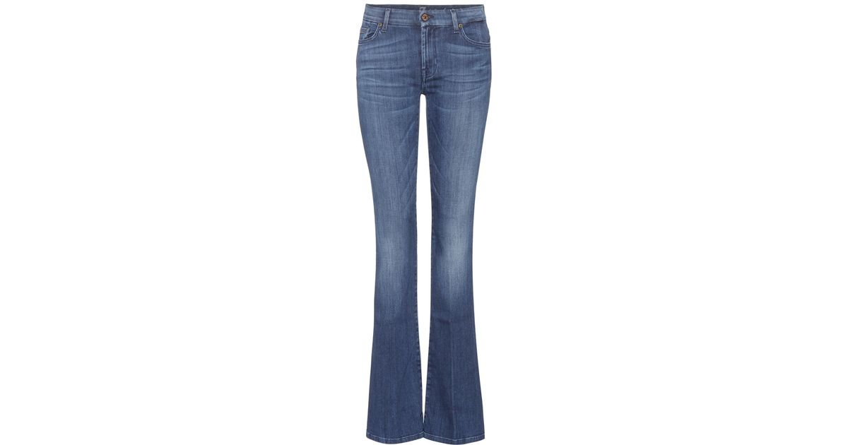 for all mankind bootcut jeans in blue lyst. Black Bedroom Furniture Sets. Home Design Ideas