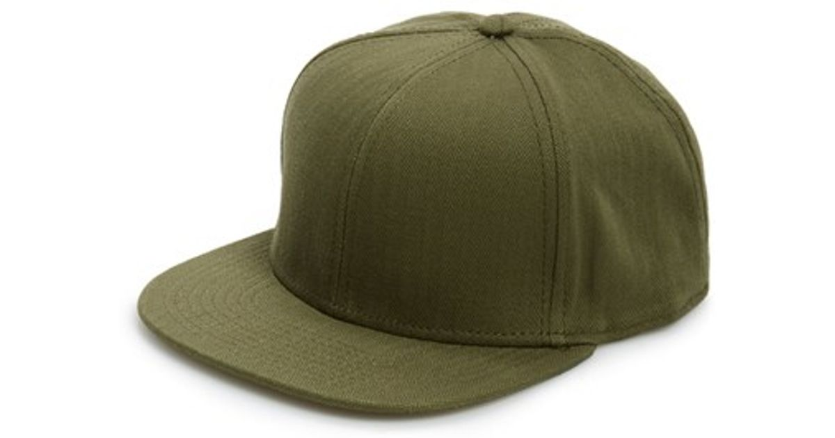 Lyst - TOPMAN Herringbone Snapback Cap in Green for Men 4d7b7b23d92