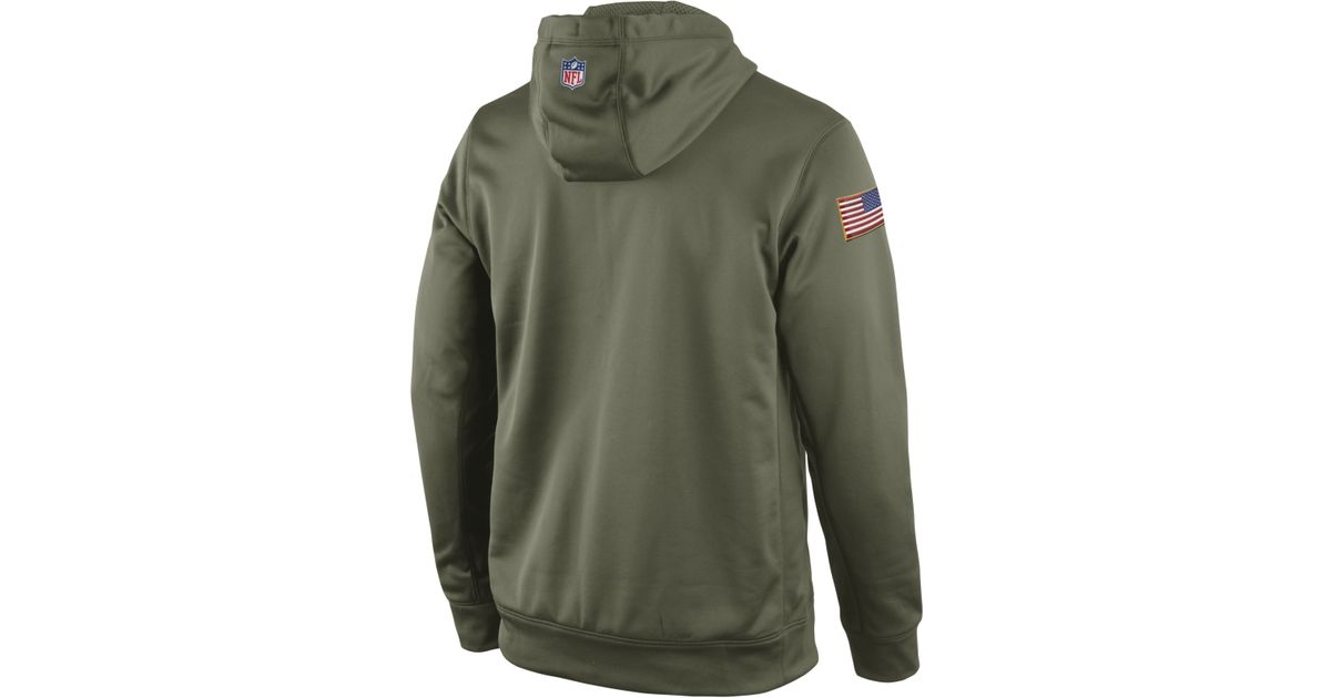 6ff90a21a ... netherlands lyst nike mens san francisco 49ers salute to service ko  hoodie in green for men ireland nfl ...