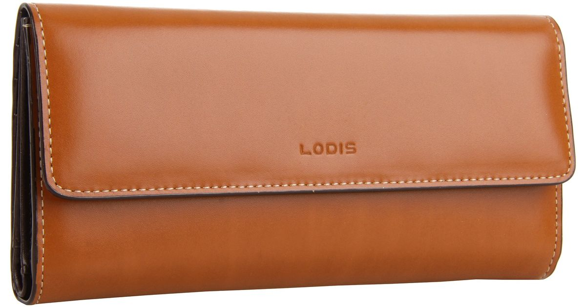 Lodis Audrey Checkbook Clutch In Brown Lyst