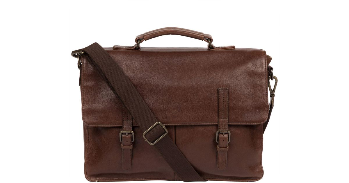 6d4be6d2b7a6 Conkca London Malt  lorton  Leather Handcrafted Briefcase in Brown for Men  - Lyst