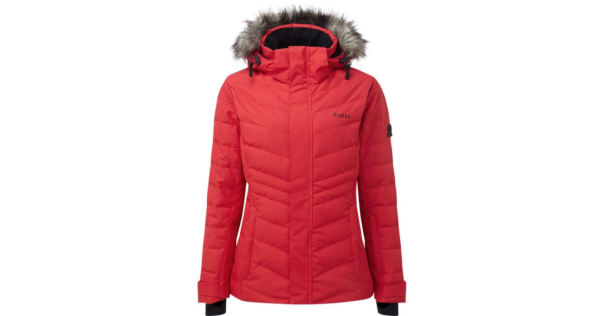 472a09bcd0 Tog 24 Rouge Red Kirby Womens Down Fill Ski Jacket in Red - Lyst