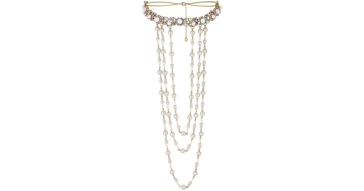 18015ce0db4 Lipsy Statement Layered Pearl Choker Necklace in Metallic - Save 72% - Lyst