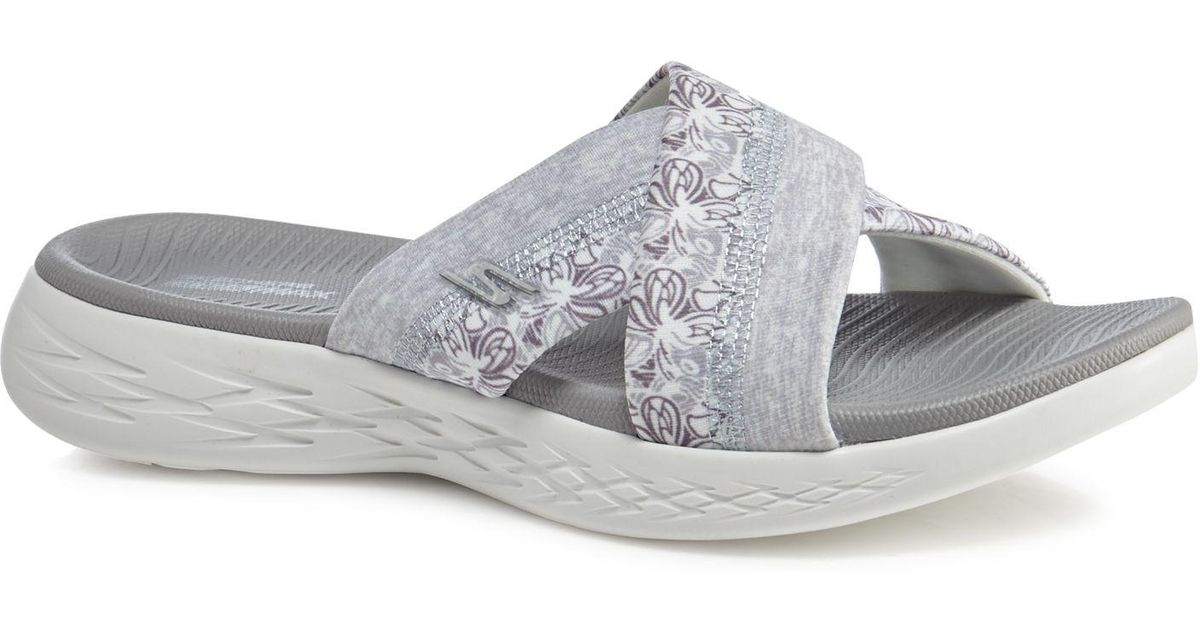 96149245c2c5 Skechers Grey  on-the-go Monarch  Sandals in Gray - Lyst