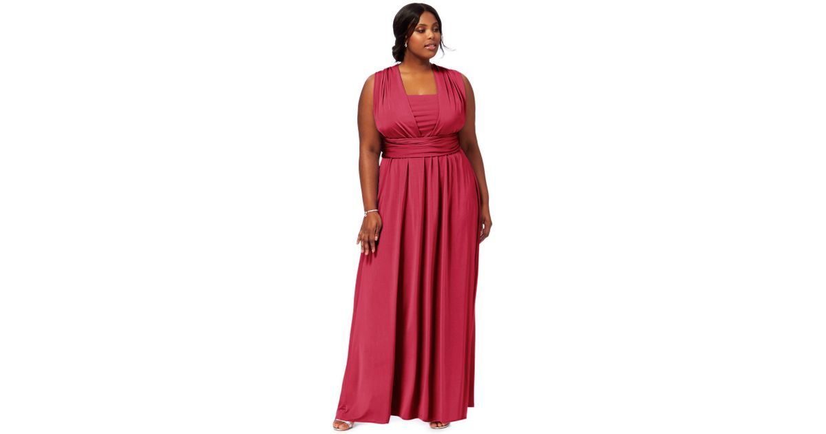 Début Pink Multiway Plus Size Evening Dress In Pink Lyst