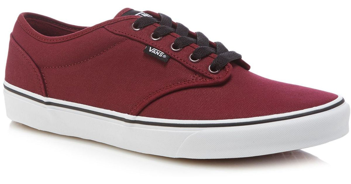 Vans Dark Red Canvas 'atwood' Trainers