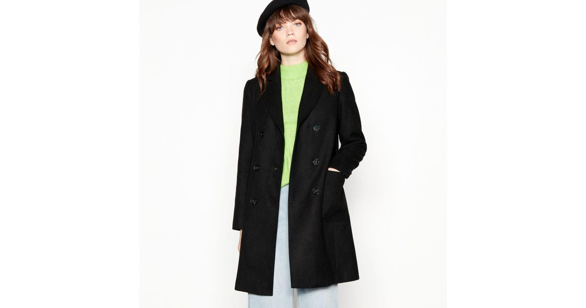 f049bfae1318 Red Herring Black Utility Double Breasted Coat in Black - Lyst