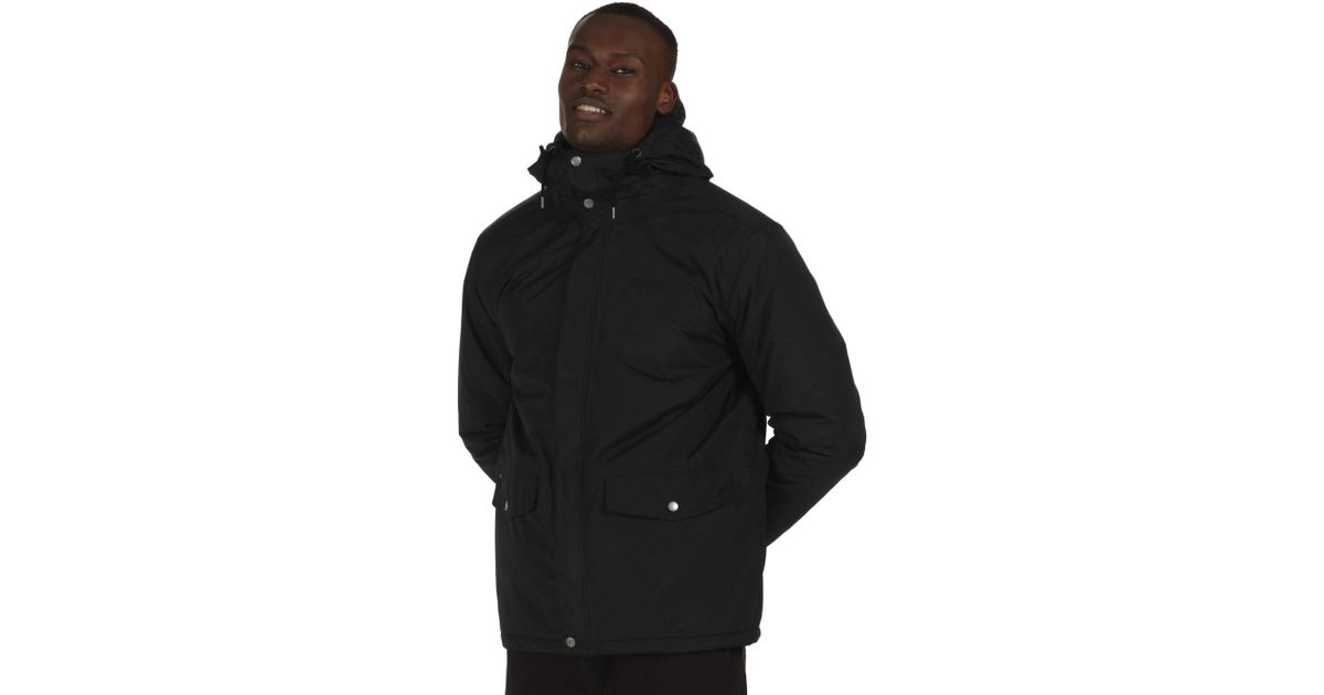 f82e2cdd4 Regatta Black 'sternway' Waterproof Insulated Jacket in Black for Men - Lyst