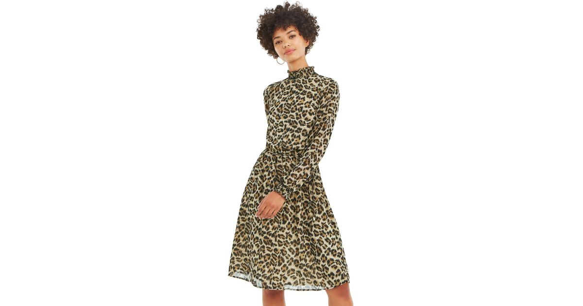 53551007a97b Oasis Leopard High Neck Dress - Lyst