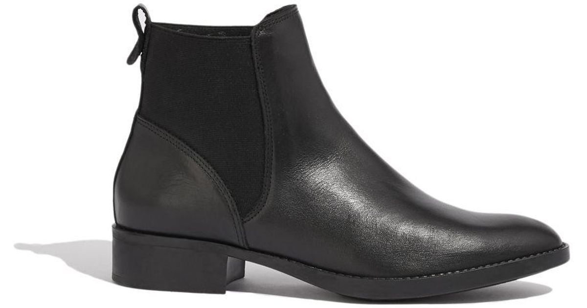b4906a53bb46 Oasis Black 'aimee' Leather Chelsea Boots in Black - Lyst
