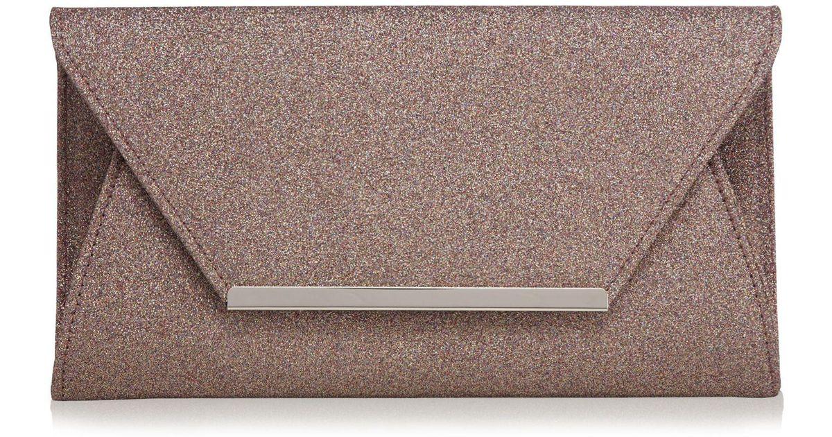 882b4f24ca Début Multi-coloured Glitter Envelope Clutch Bag - Lyst