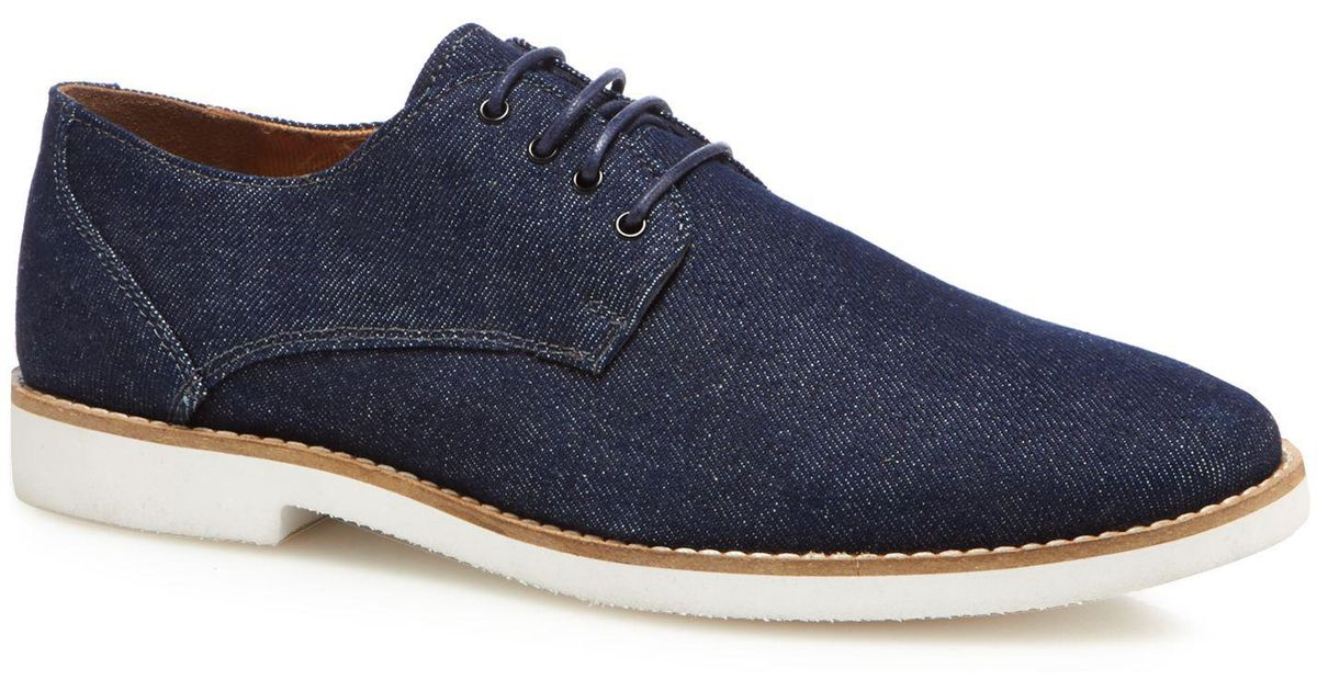 f4cd61a80f117 Red Herring Navy Denim 'toulon' Derby Shoes in Blue for Men - Lyst