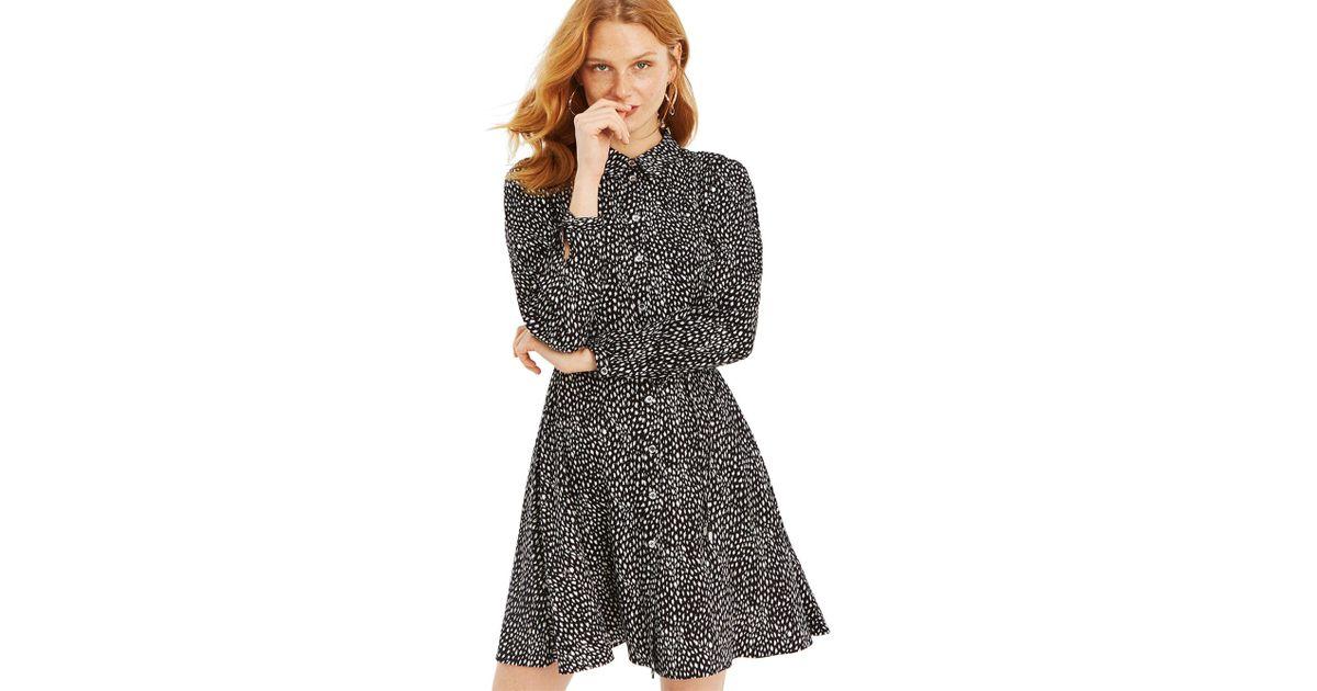 839d5518396c Oasis Leopard Shirt Dress in Black - Lyst