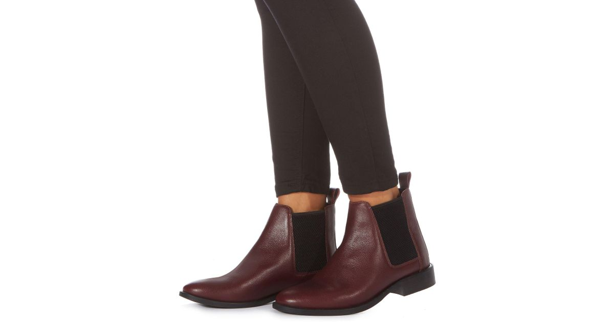 5c72e3e37673 Faith Dark Red Leather  binky  Chelsea Boots in Red - Lyst