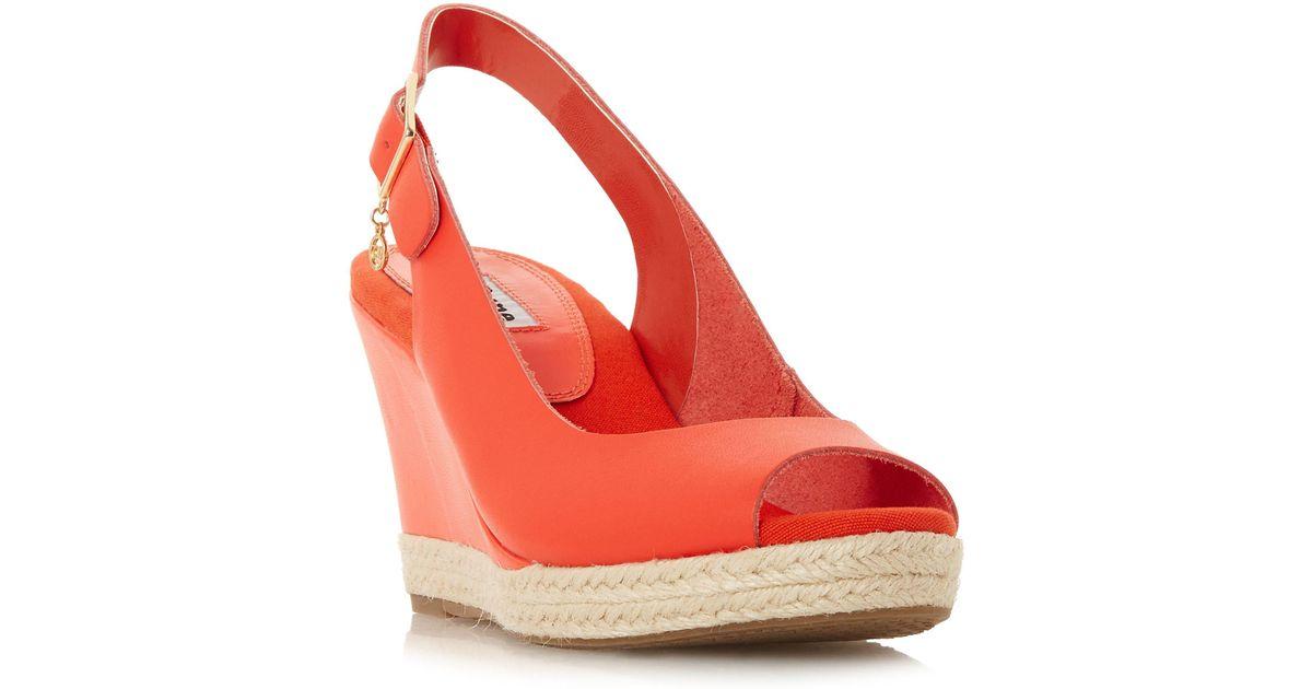 Slingback 'klicks' Lyst Dune Leather Orange In Sandals 2eIE9bWDHY