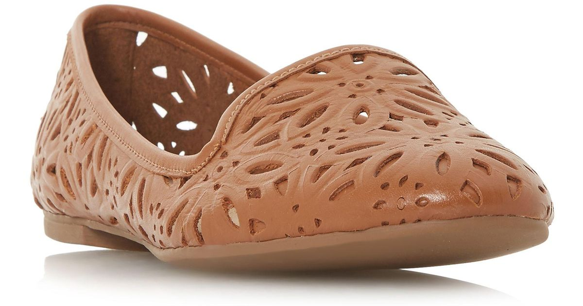 a653abd38c Dune Tan Leather 'galatia' Pumps in Brown - Save 58% - Lyst