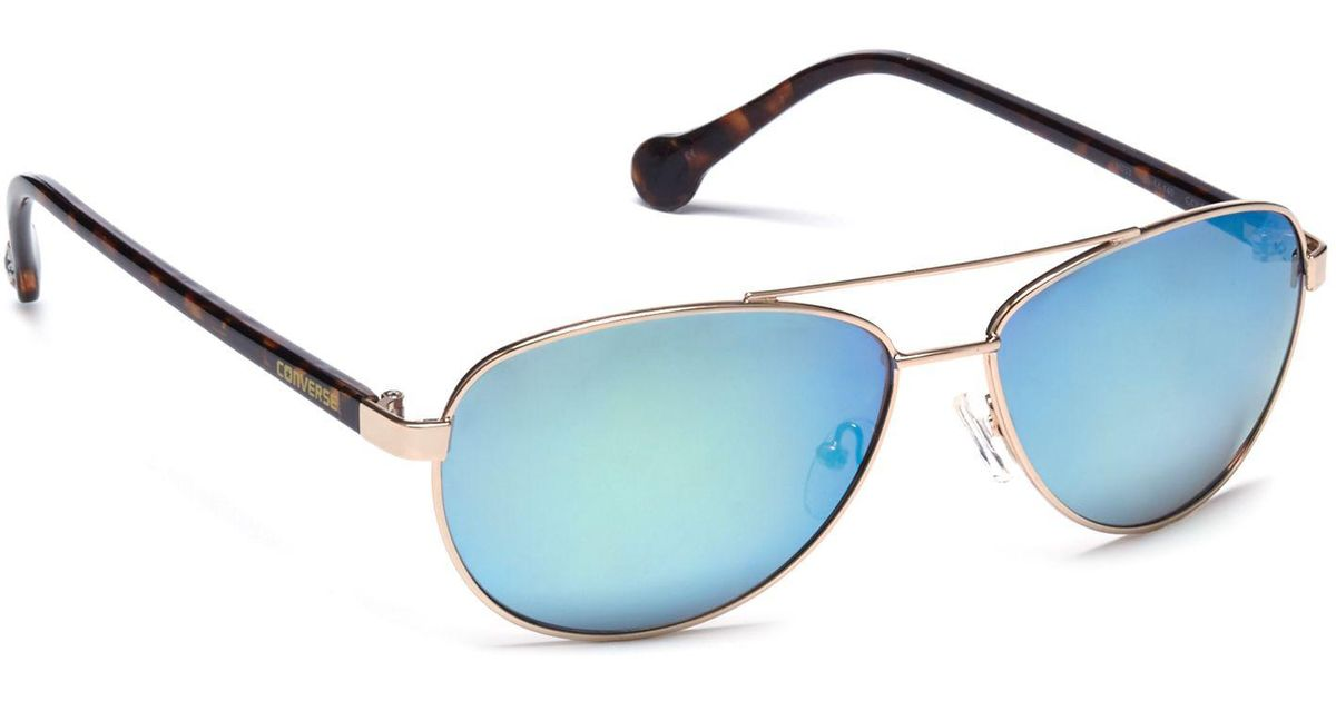 247383f26be15 Converse Blue Metal H033 Pilot Sunglasses in Blue for Men - Lyst