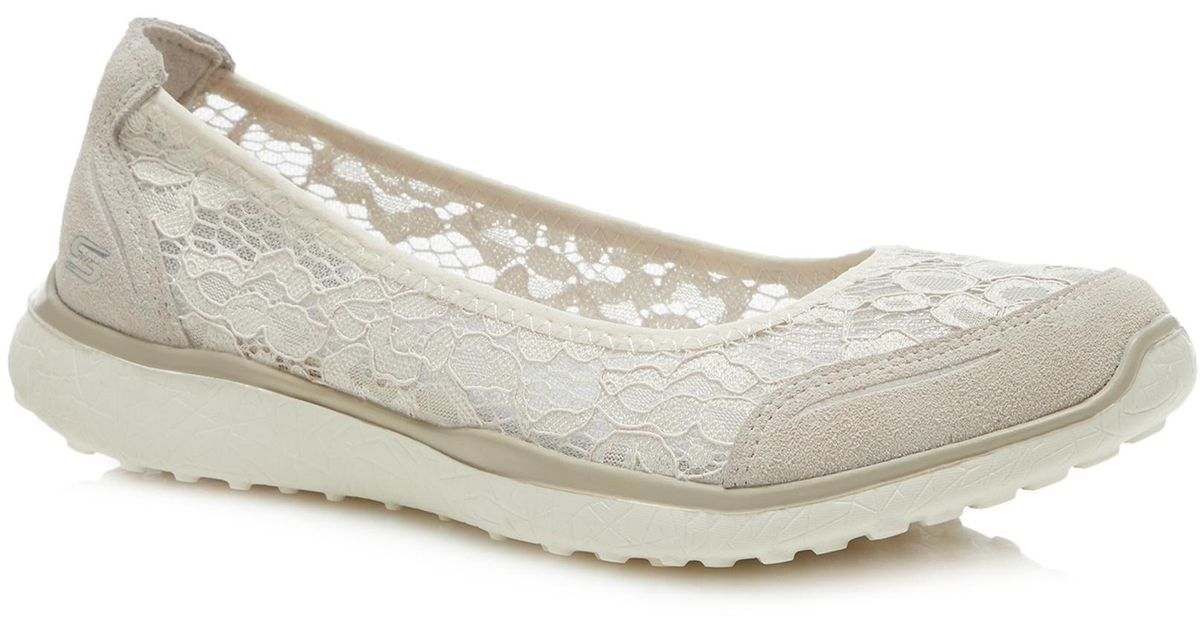 Skechers Nude Floral Lace 'microburst