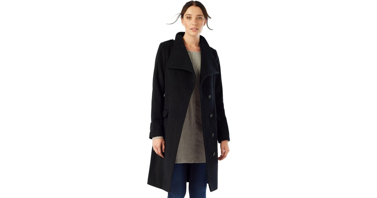 pretty nice the best attitude the cheapest Phase Eight Black Donnalyn Wrap Neck Coat