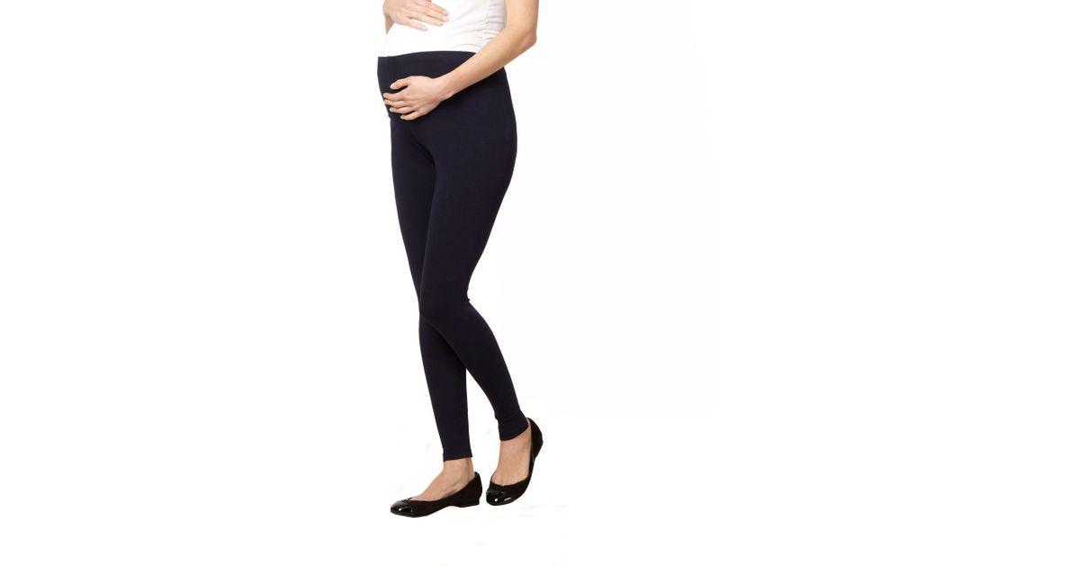 ab48cf6702738 Red Herring Navy Full Length Maternity Leggings in Blue - Lyst
