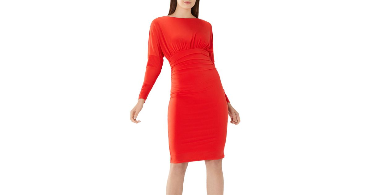 aadc2f2006f Coast Red 'laurie' Jersey Shift Dress in Red - Lyst