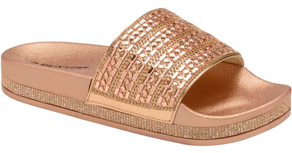d92bc9967b43 Dunlop Rose Gold  emmie  Mule Sandals in Pink - Lyst