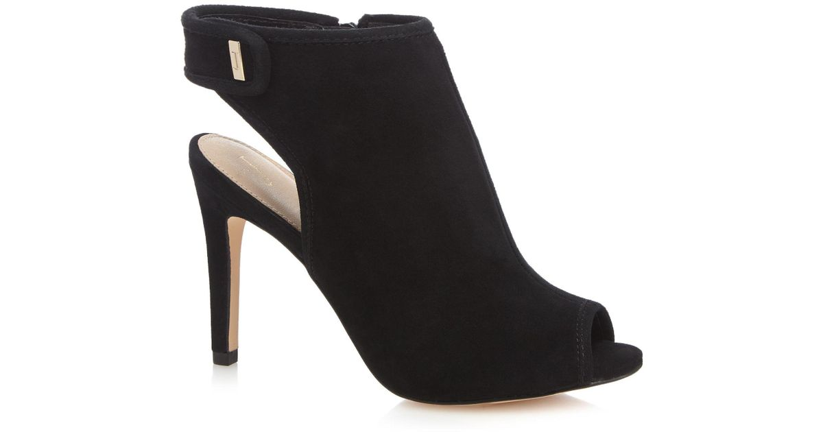21111a82de3 J By Jasper Conran - Black Suede 'jazz' High Stiletto Heel Shoe Boots - Lyst