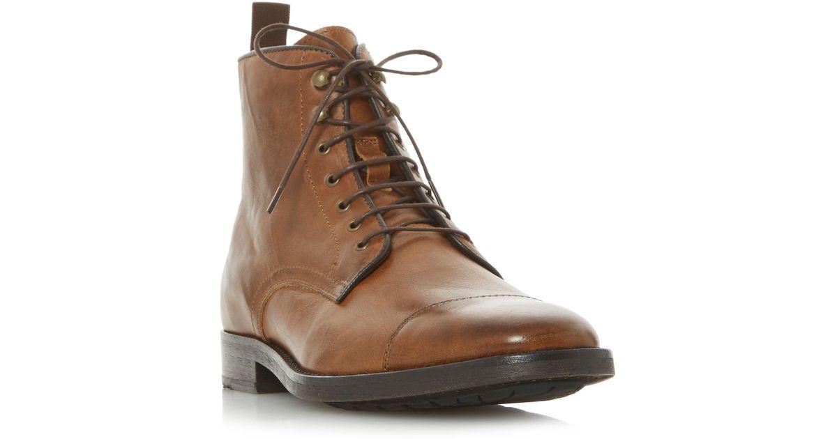 Boots In Tan Worker 'christchurch' Brown Detail Toecap Bertie For X17SqT