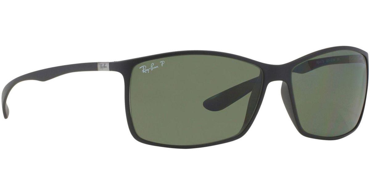 92b299955e872c Ray-Ban Matte Black  liteforce  Square Rb4179 Sunglasses in Black for Men -  Lyst