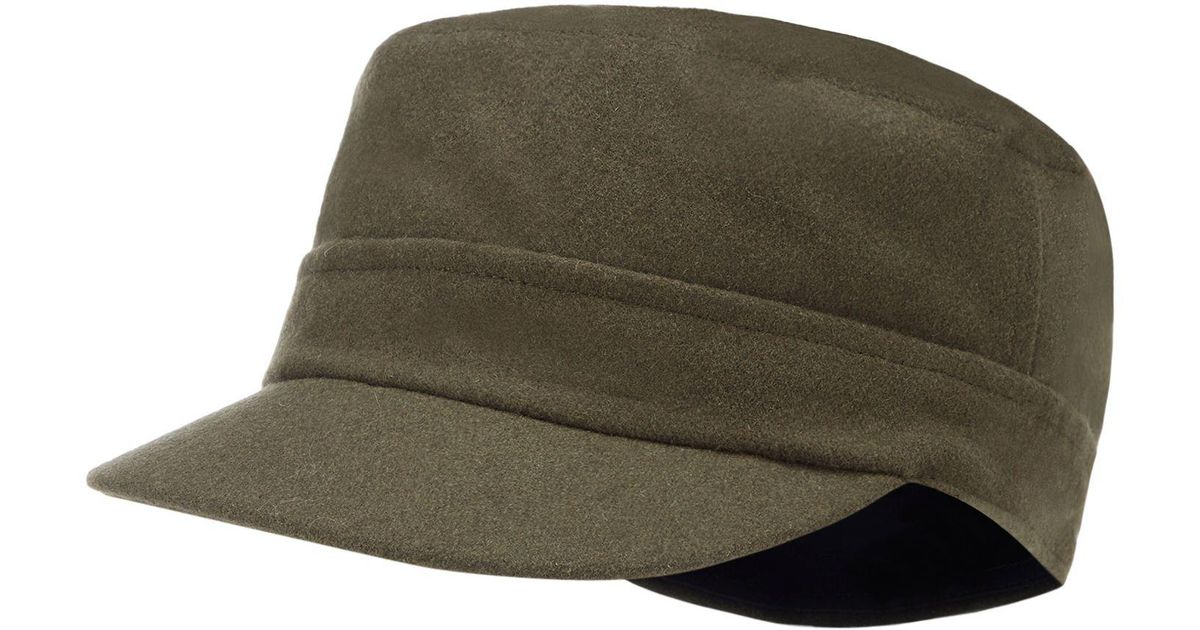 6424974d J By Jasper Conran Olive Train Driver Hat With Wool in Green for Men - Lyst