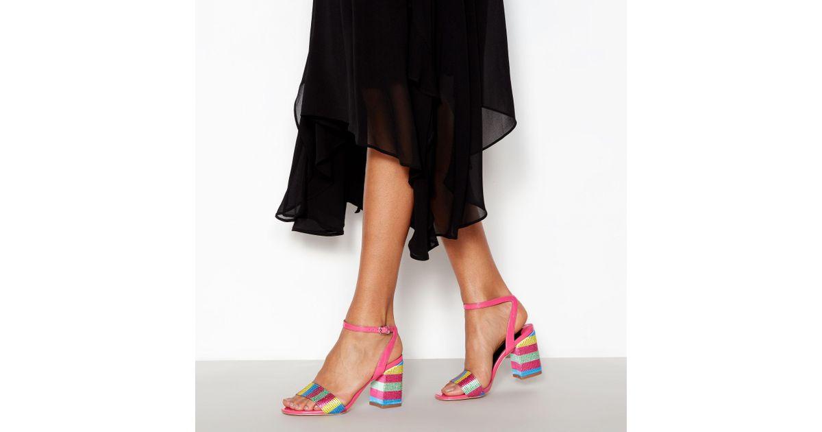 adbf163c3d0 Faith Multi Sequin  dancer  Block Heel Sandals - Lyst