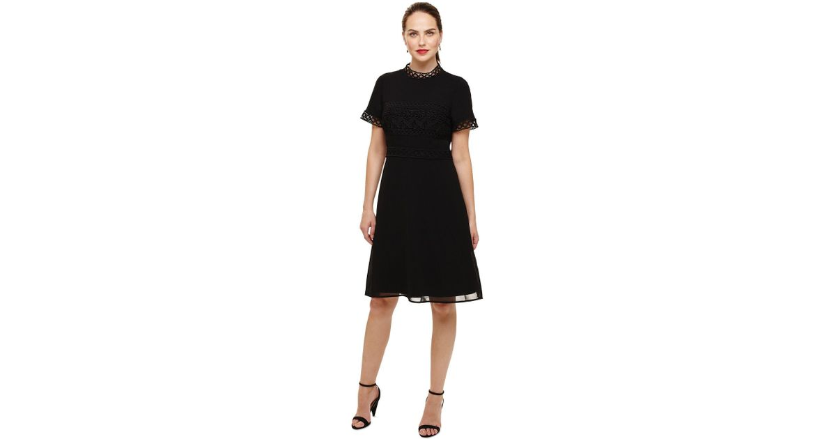 Phase Eight Black Ivanna Guipure Lace Dress In Black Lyst