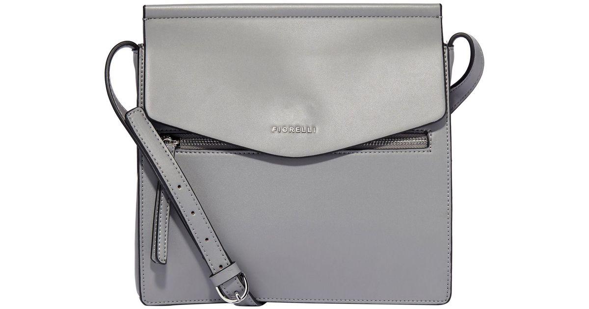 0351210fd5 Fiorelli Light Grey Mia Large Crossbody Bag in Gray - Lyst