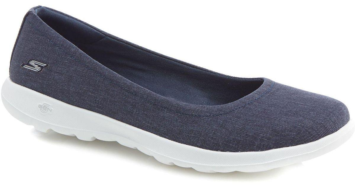 echte Schuhe 2018 Schuhe großer Abverkauf Skechers Navy 'go Walk Lite In Bloom' Pumps in Blue - Lyst