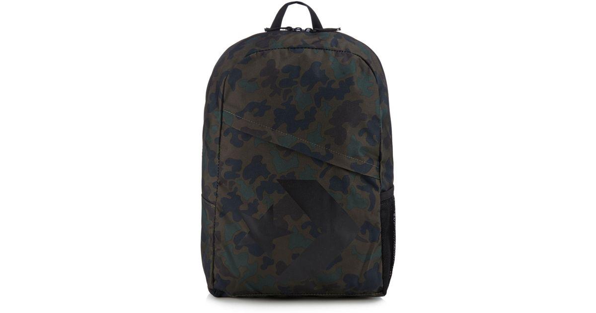 77e21e5c5cb8 Converse Khaki Camo Print Logo Backpack in Black for Men - Lyst