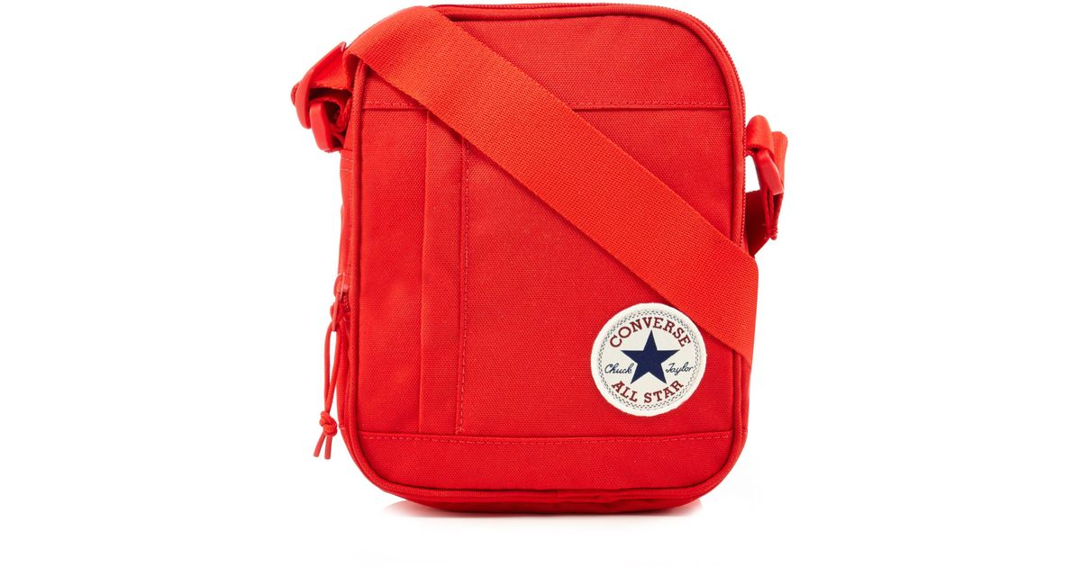 ac4768769e49 Converse Chuck Taylor Patch Crossbody Bag In Red in Red for Men - Save 20%  - Lyst