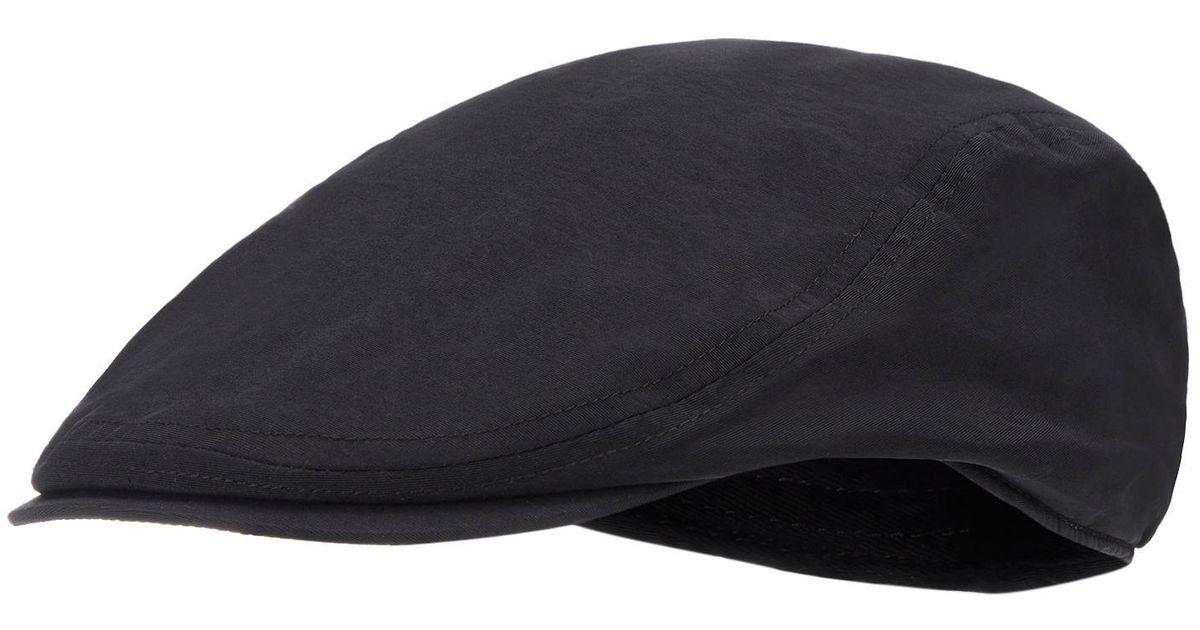 688298526ca02 J By Jasper Conran Black Waterproof Flat Cap in Black for Men - Lyst
