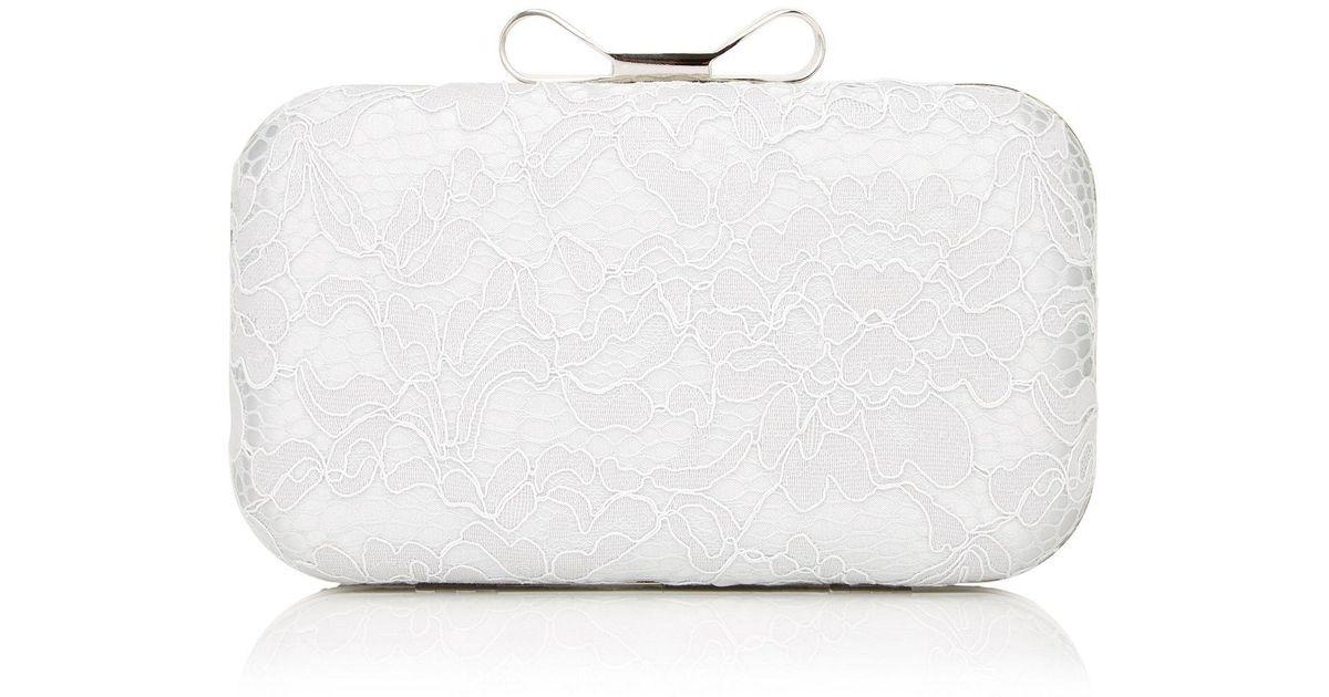 Precis Pee White Poetic Lace Clutch Bag