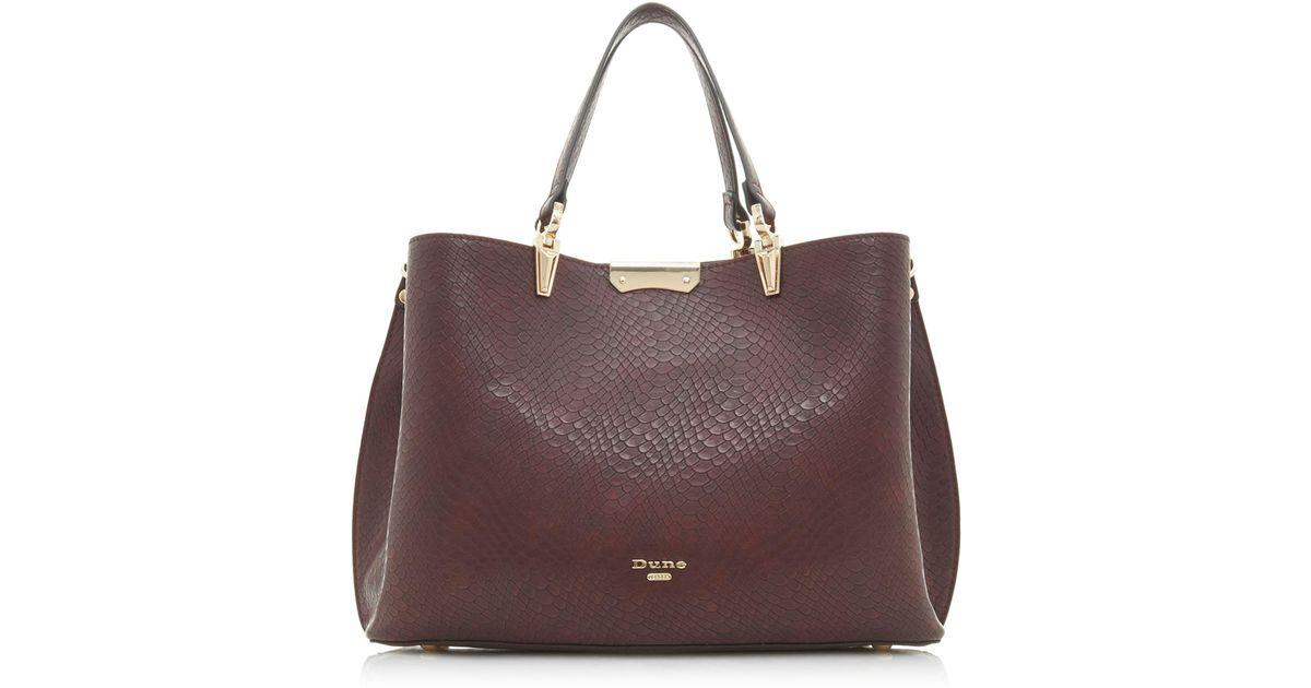 9e2800ded161 Dune Dark Red  darrow  Large Textured Handbag in Red - Lyst