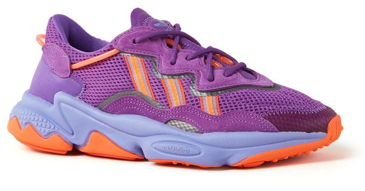 Adidas Ozweego Sneaker Van Suéde En Mesh in het Purple