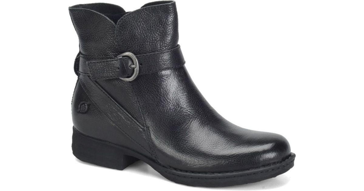 born mairead leather ankle boots in black lyst