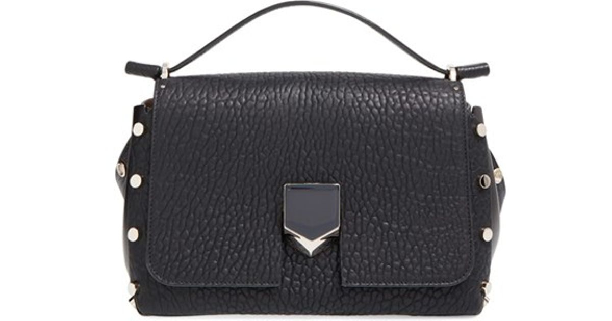 Jimmy choo 'small Lockett' Leather Crossbody Bag in Black ...
