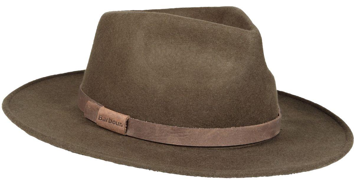 ac833fc62 Barbour Green Crushable Bushman Hat for men