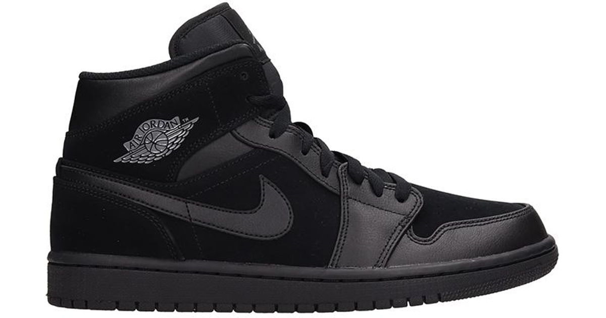 Nike Air Jordan 1 Mid Leather And Suede