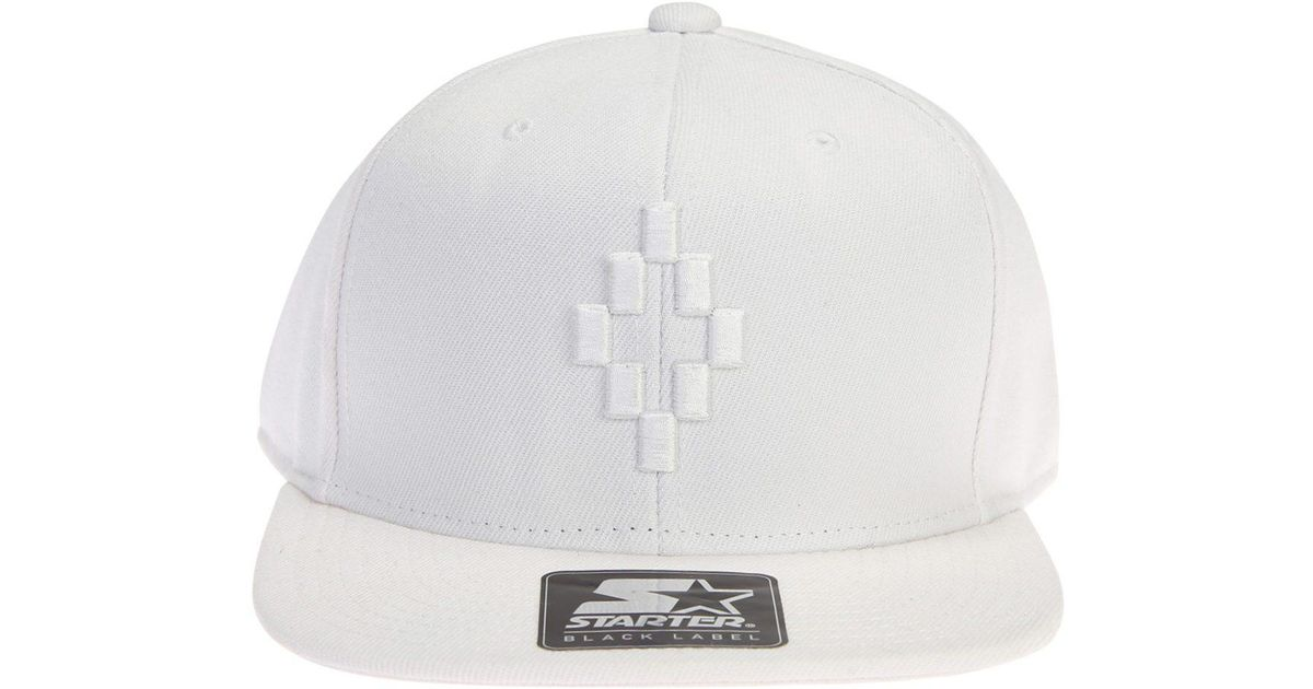 9c5c12118ff Lyst - Marcelo Burlon Starter Cruz Wool Blend Baseball Hat in White for Men