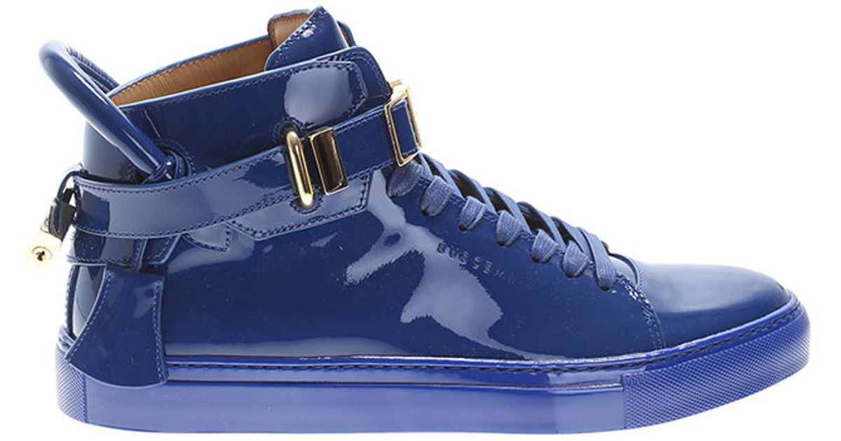 Buscemi Blue Patent Leather Sneakers