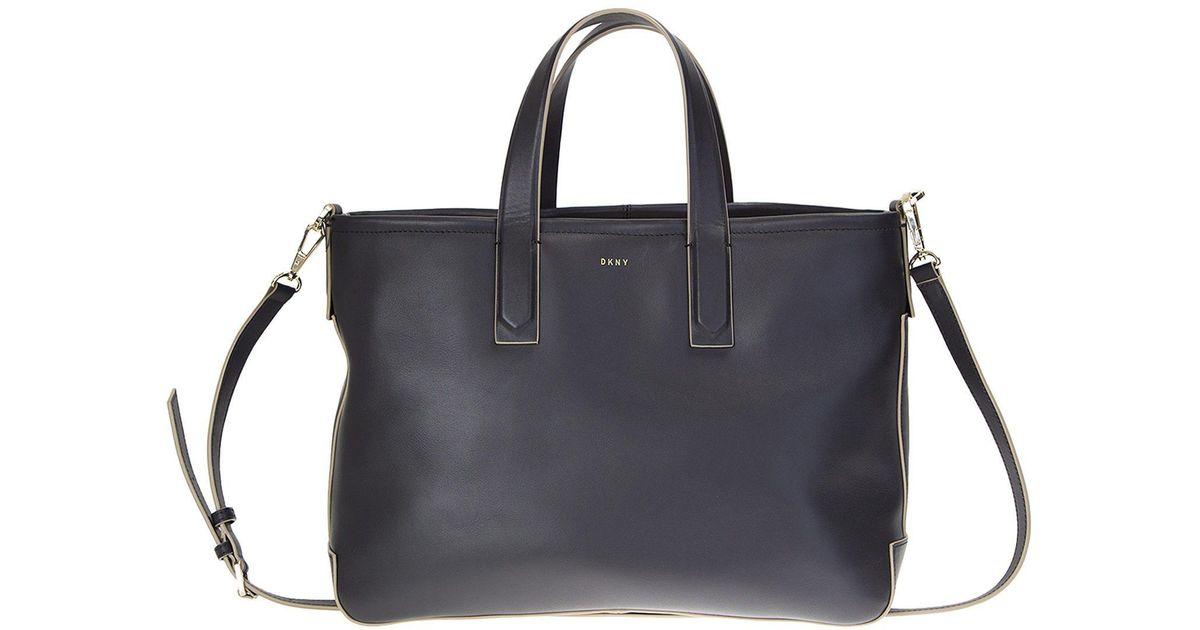 7dbaa5ef2590 Dkny Black Leather Greenwich Bag in Black - Lyst