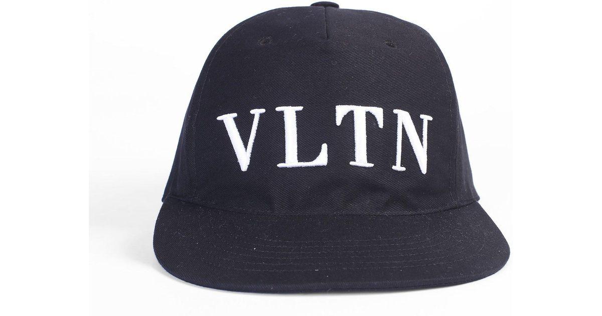 83f1026a Valentino Logo Baseball Cap in Blue for Men - Lyst
