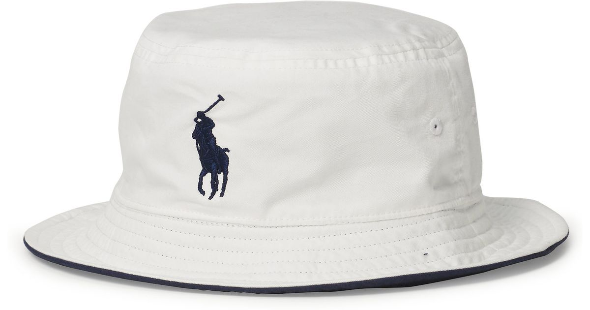 3a5f2c4d69a Lyst Polo Ralph Lauren Us Open Reversible Bucket Hat In Blue For Men